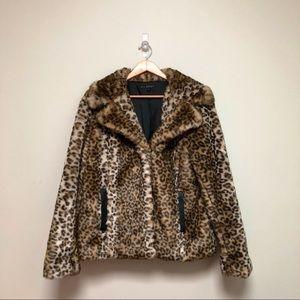 90s Leopard Faux Fur Coat